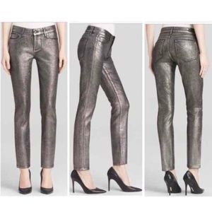 Paige Verdugo Ultra Skinny Pewter Crackle Jeans